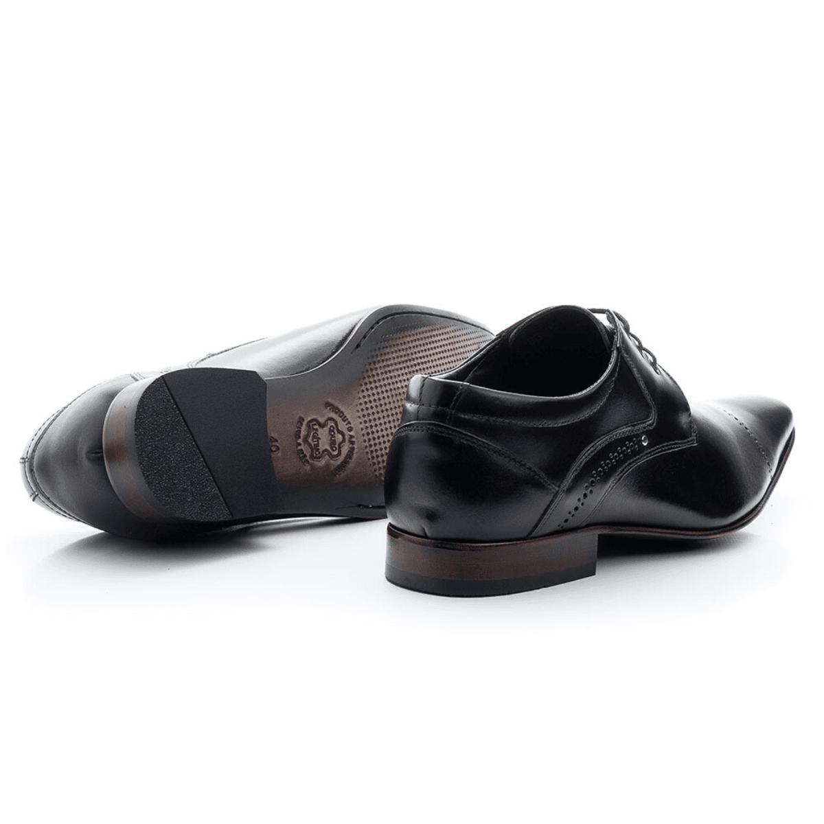 Sapato Social Bigioni 377 Clássico Couro Preto