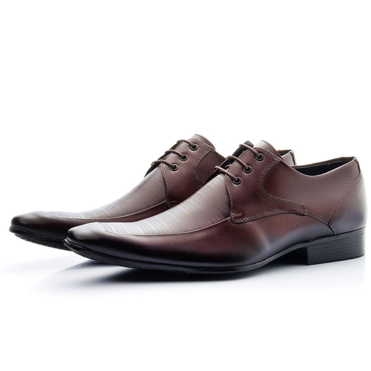 Sapato Social Bigioni 400 Couro Mouro