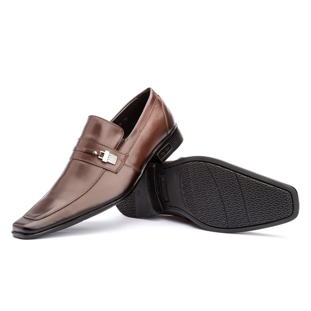 Sapato Social Clássico Fivela 430 Couro Mouro