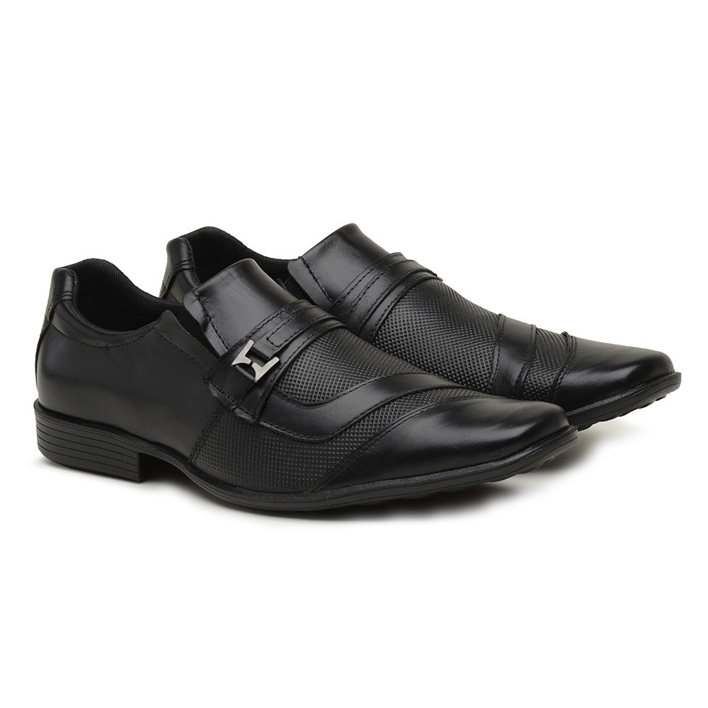 Sapato Social Gommix Shoes 1006 Couro Preto