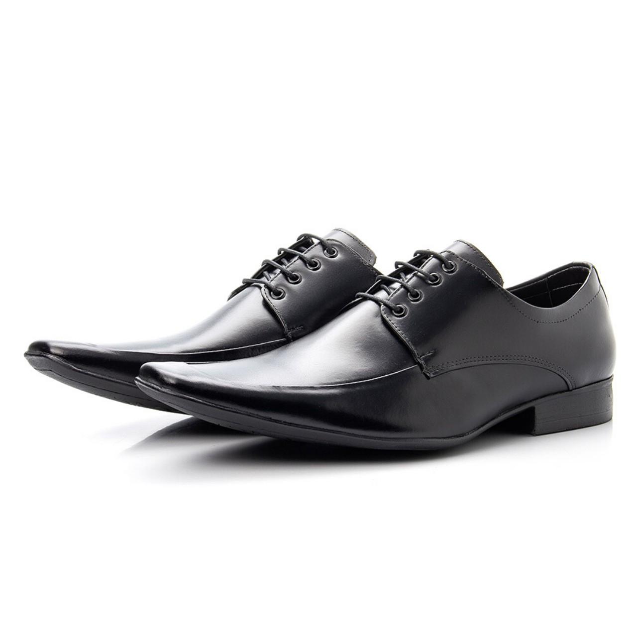 Sapato Social Gravata Bigioni Couro Preto