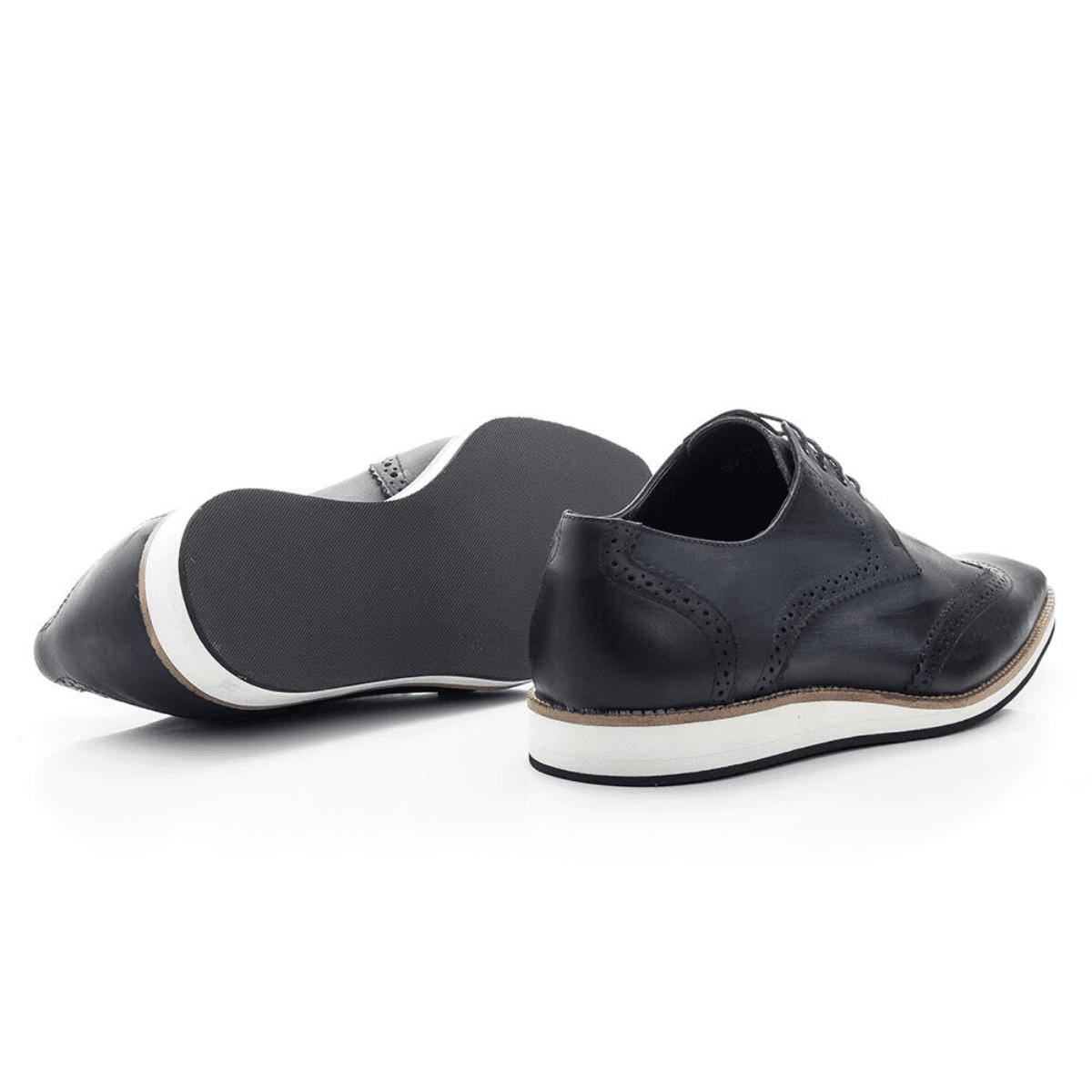 Sapato Social Oxford Bigioni 516 Estonado Marinho