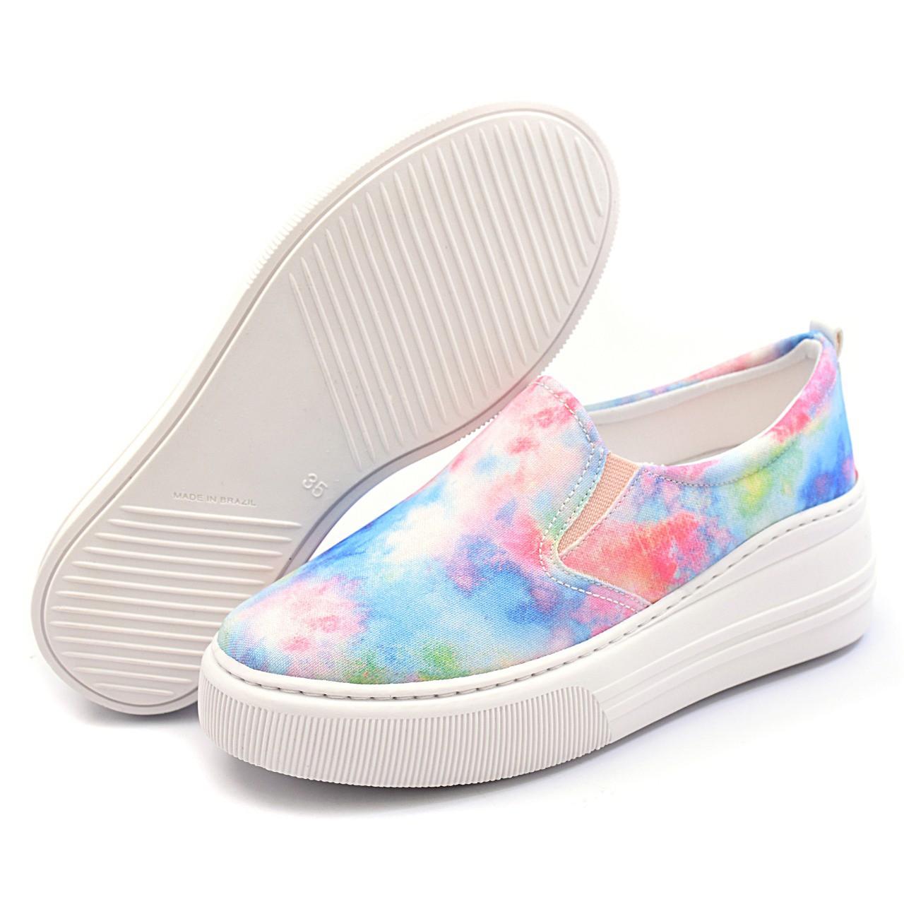 Slip On Colorido Gommix Shoes 089 Tie Dye Sola Alta