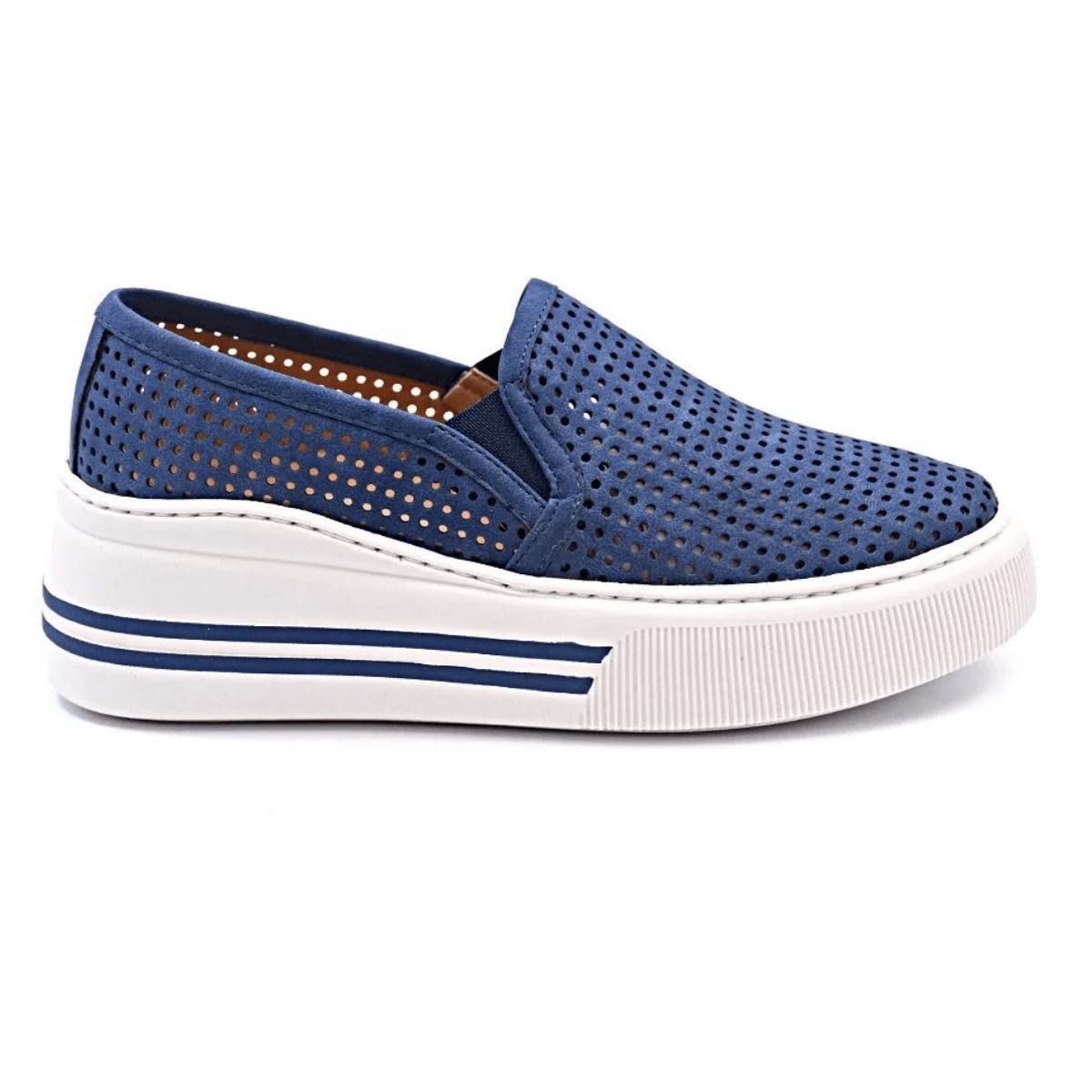 Slip On Tênis Gommix Shoes 237 Sola Alta Azul