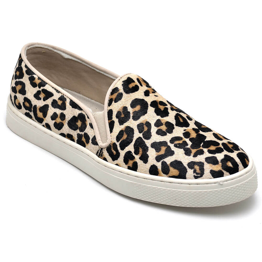 Slip On Feminino Gommix Pelo Leopardo