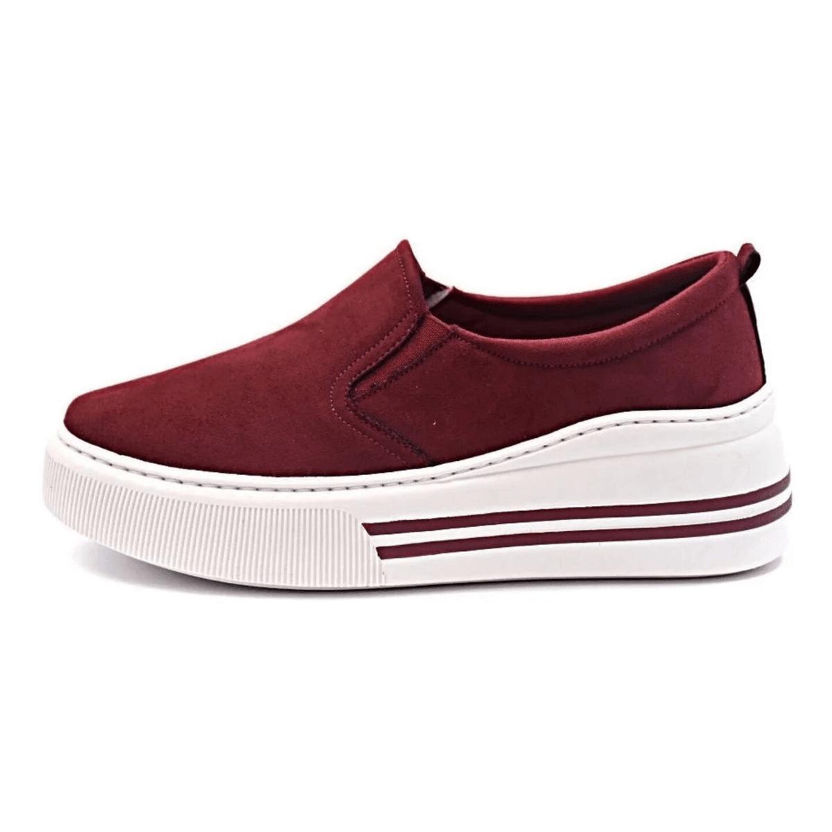 Slip On Tênis Gommix Shoes 110 Sola Alta Vinho