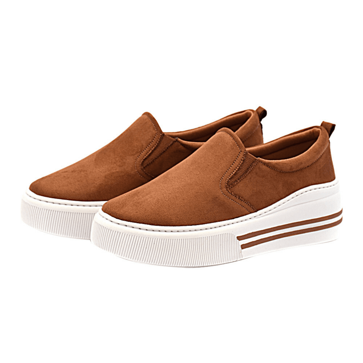 Slip On Tênis Gommix Shoes 205 Sola Alta Caramelo