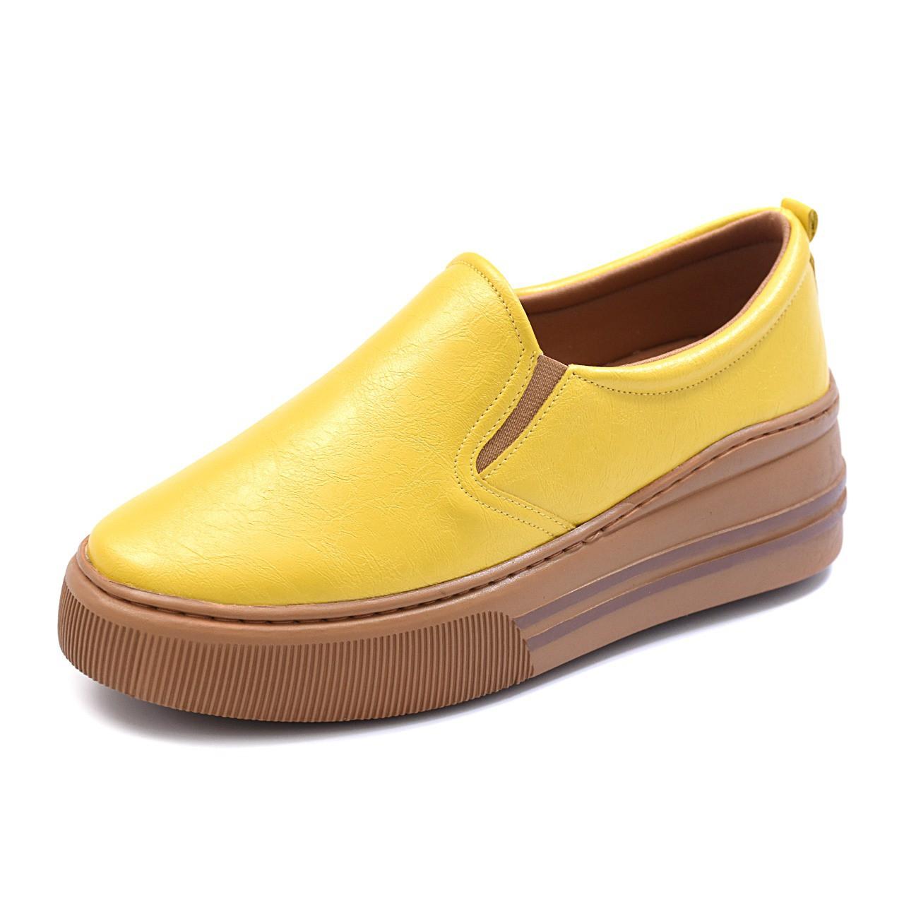 Slip On Tênis Gommix Shoes 061 Sola Alta Amarelo