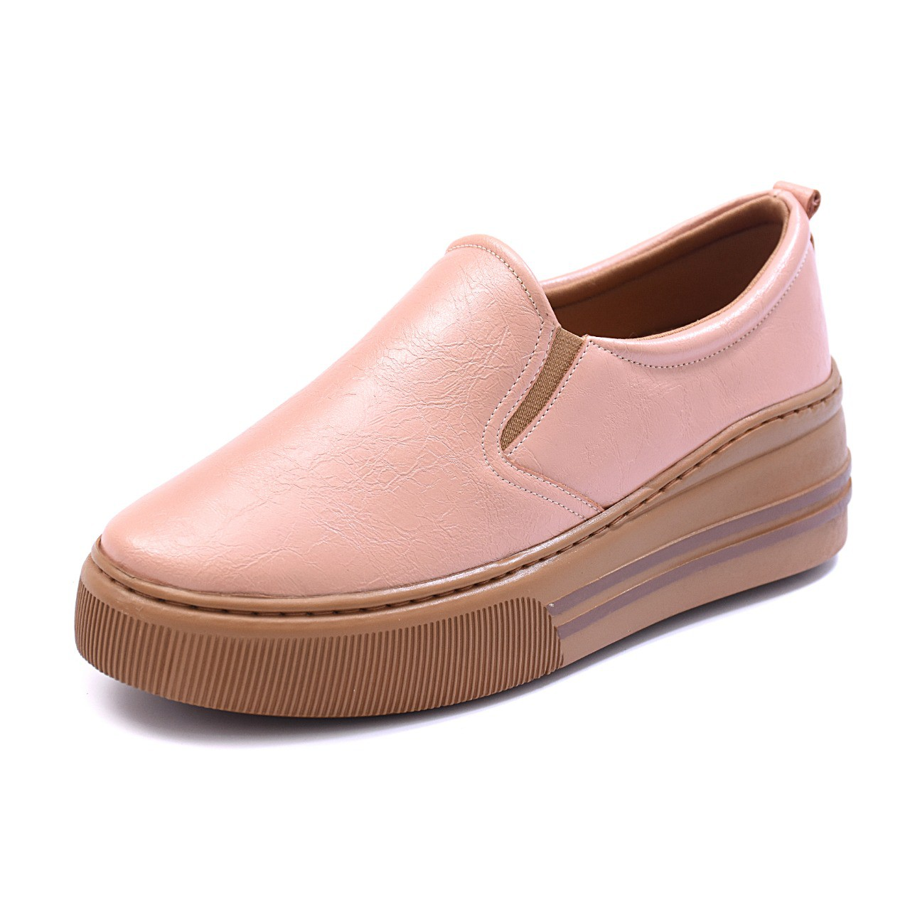 Slip On Tênis Gommix Shoes 063 Sola Alta Rose