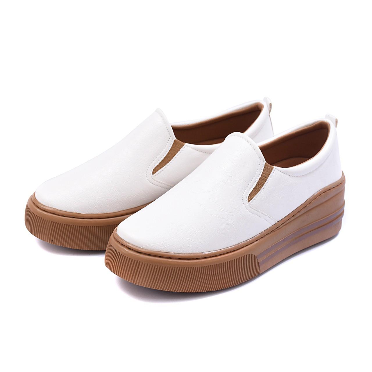 Slip On Tênis Gommix Shoes 064 Sola Alta Branco