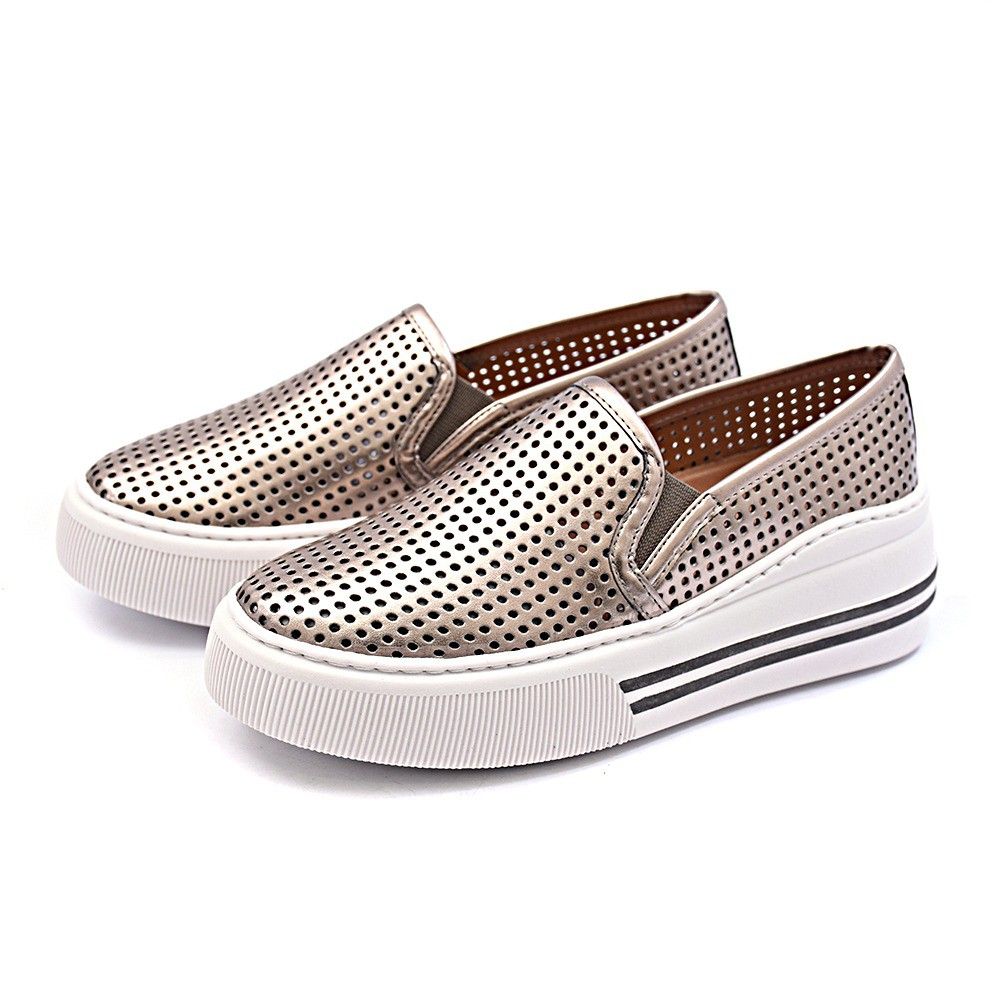 Slip On Tênis Gommix Shoes 087 Sola Alta Inox