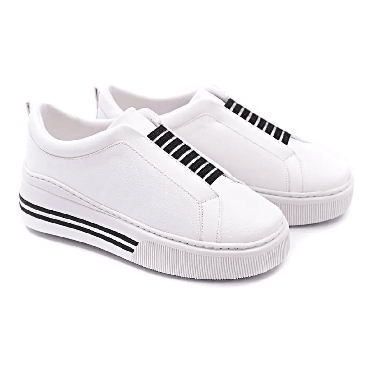 Tênis Casual Gommix Shoes 202 Sola Alta Branco
