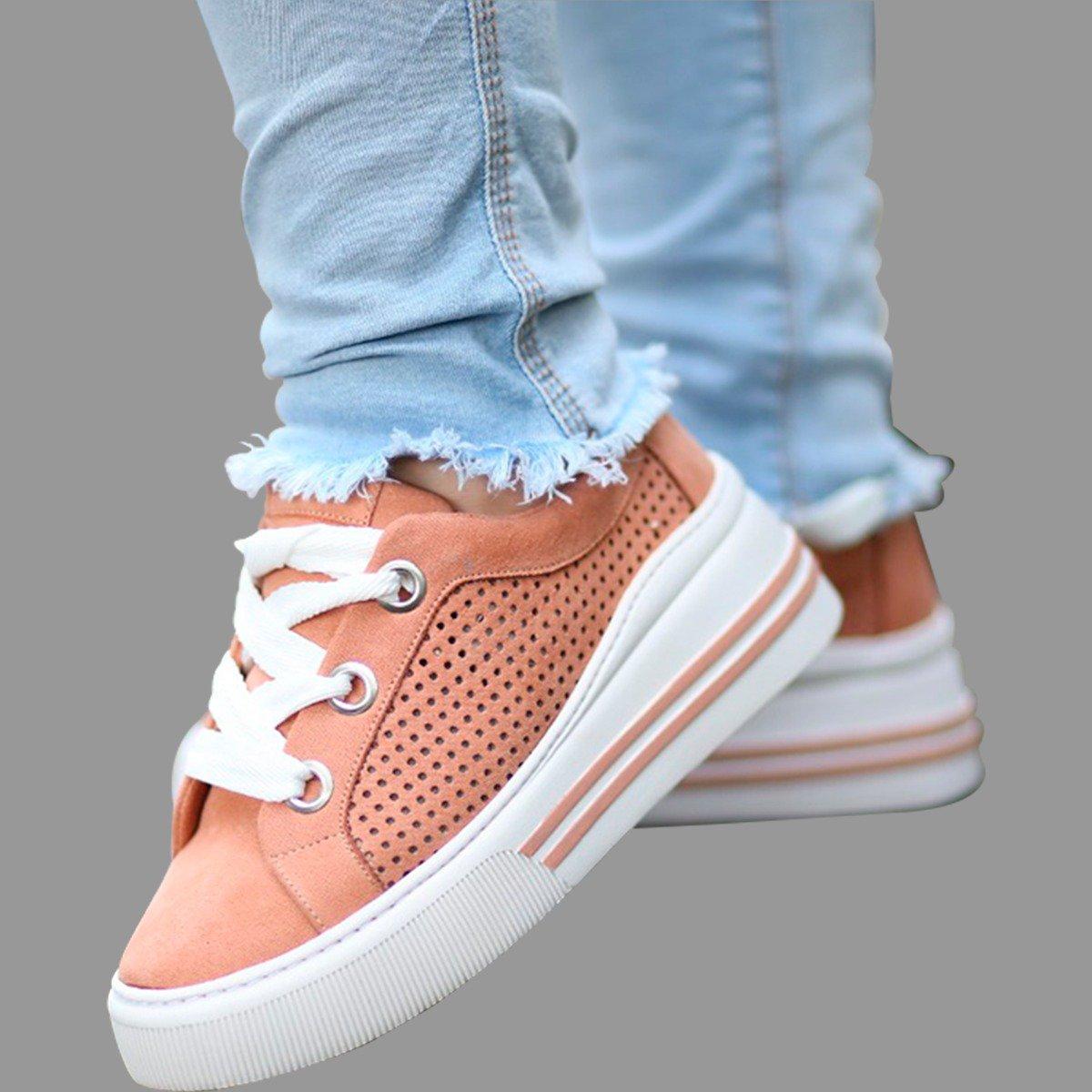 Tênis Casual Feminino Caramelo Gommix Shoes