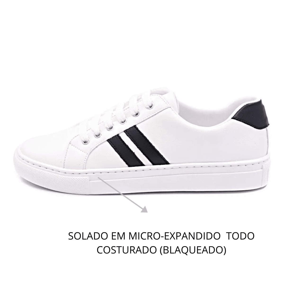 Tênis Casual Gommix Shoes 054 Listras Preto