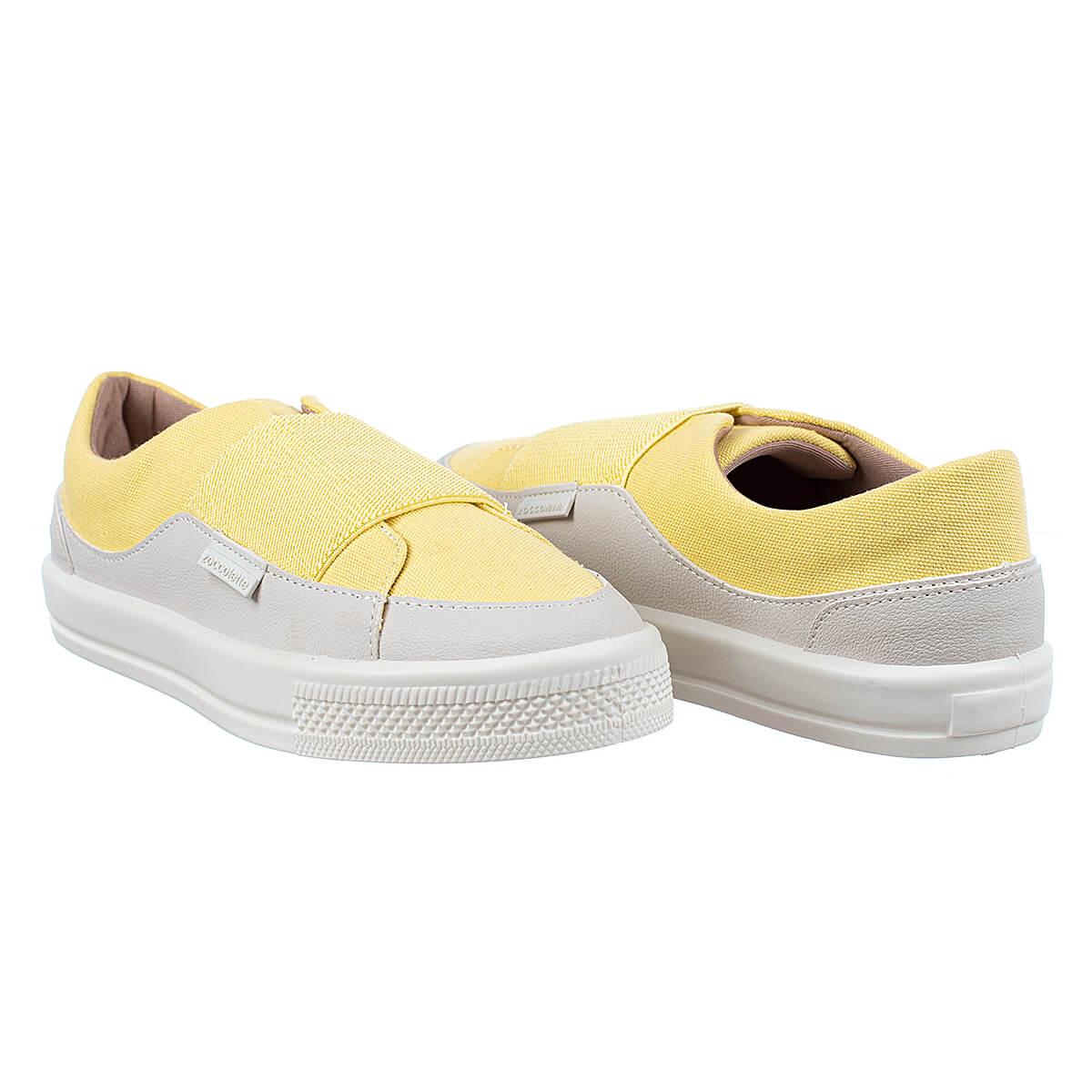 Tênis Casual Feminino Elastico Amarelo