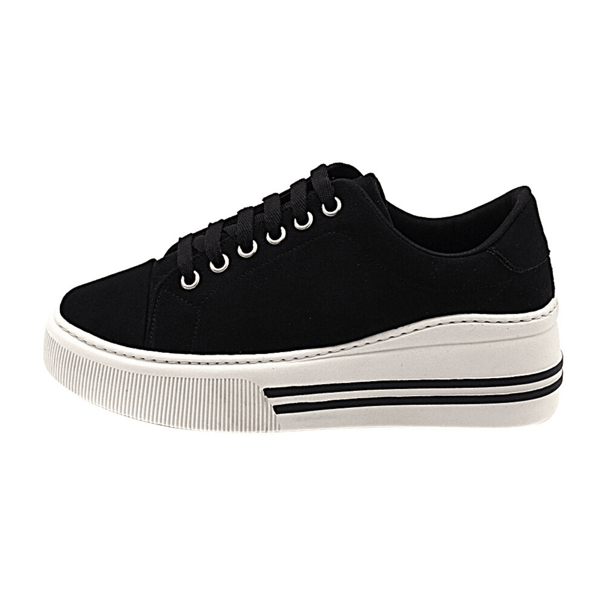 Tênis Casual Feminino Gommix Shoes 196 Sola Alta Preto