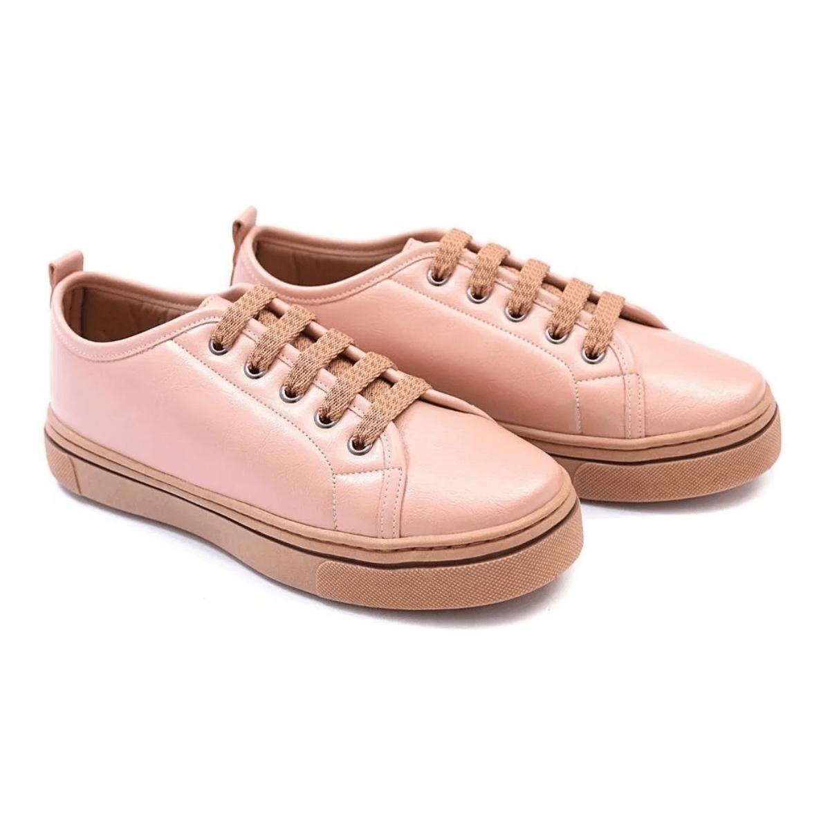 Tênis Casual Gommix Shoes 057 Amarrar Rosa