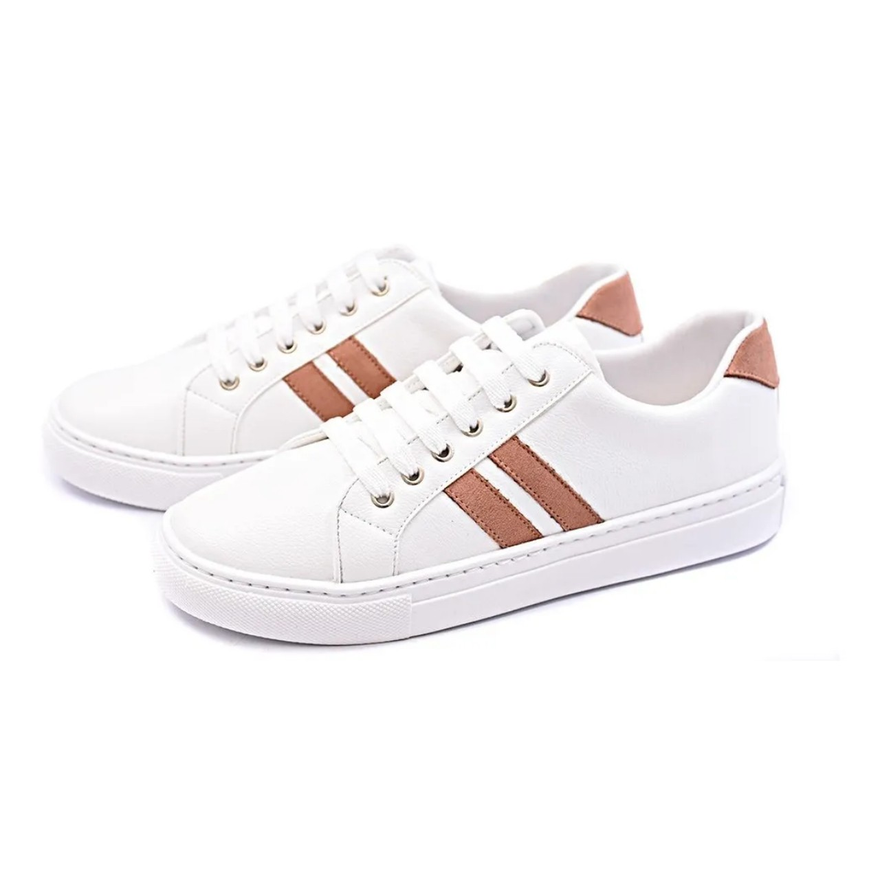 Tênis Casual Gommix Shoes 052 Listras Nude