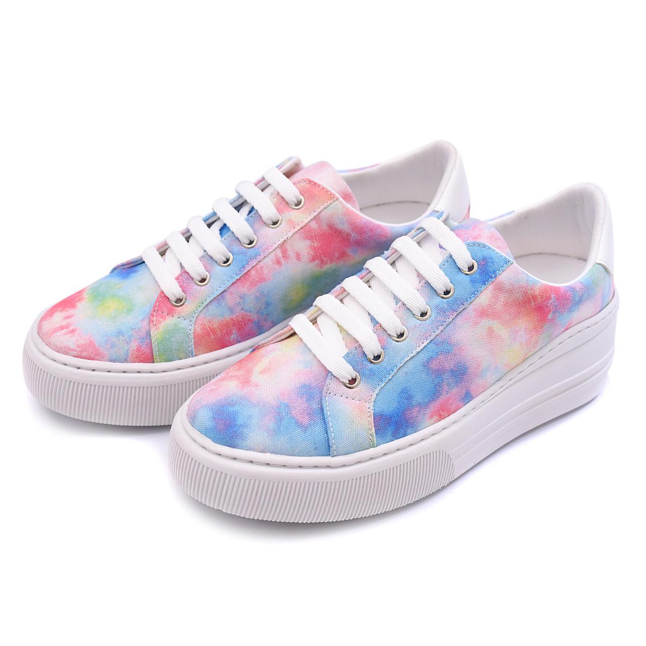 Tênis Colorido Gommix Shoes 088 Tie Dye Sola Alta