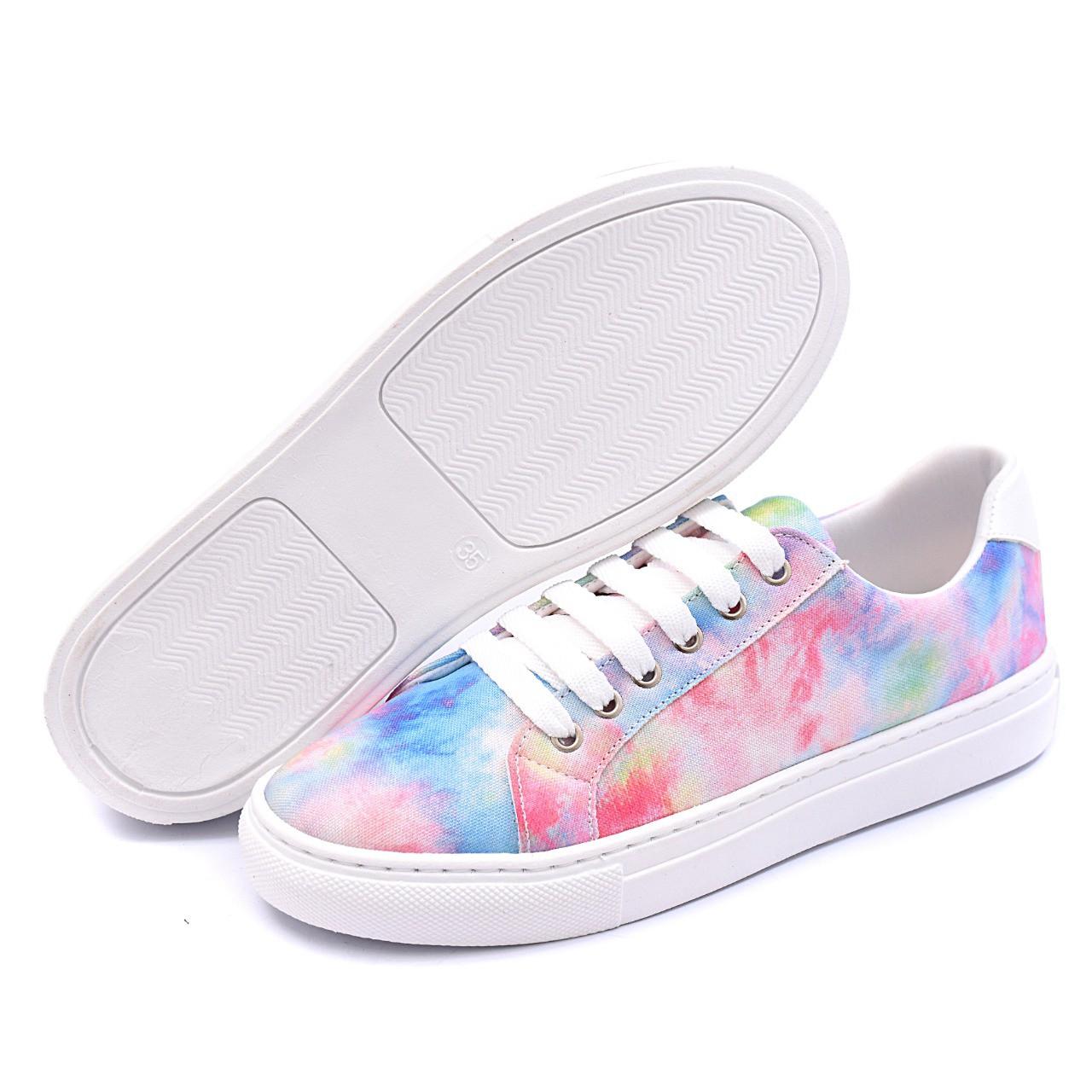 Tênis Colorido Gommix Shoes 085 Tie Dye Sola Baixa