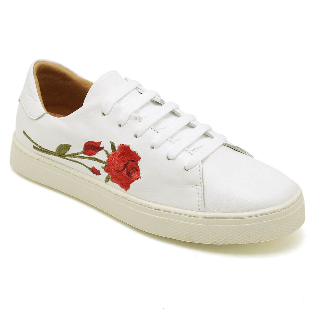 Tênis Feminino Gommix Hiate Branco Flor