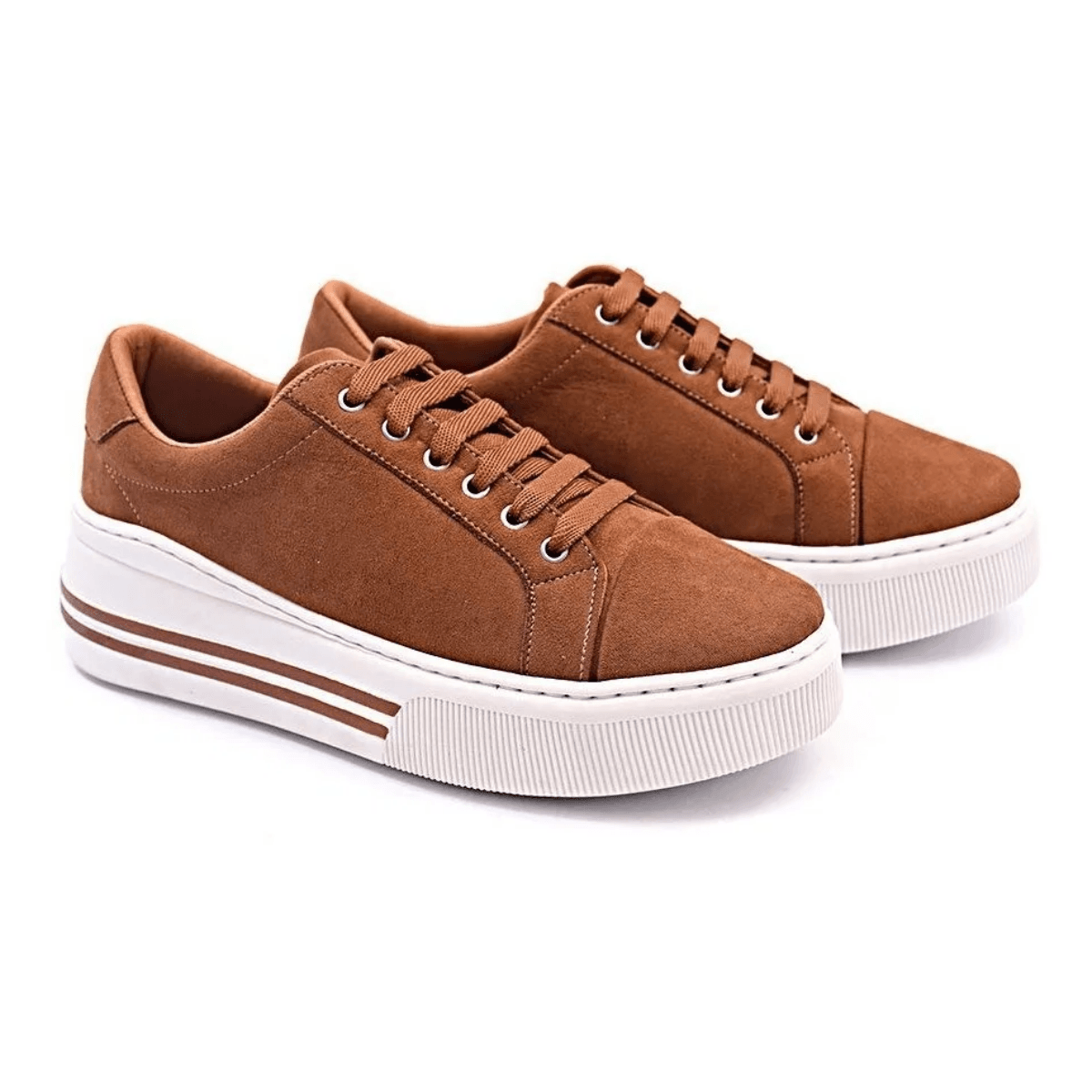 Tênis Casual Gommix Shoes 117 Sola Alta Caramelo