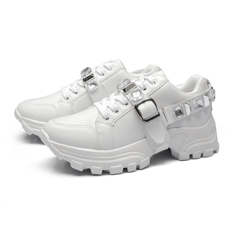 Tênis Sneaker Pedraria Gommix Chunky Branco