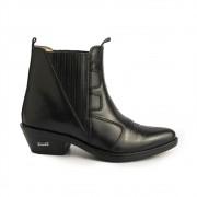 Bota Masculina Country Texana HB Agabe Boots 100.003 - Lt Preto - Sola de Couro Com Borracha