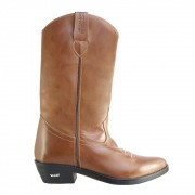 Bota Texana HB Agabe Boots 200.003 - Lt Marrom - Solado de Couro com Borracha
