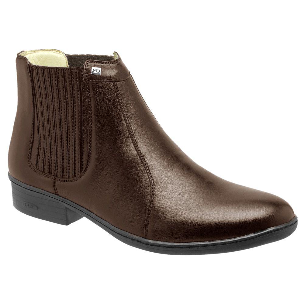 Bota Conforto Hb Agabe Boots - 401.000 - Pl Cafe - Solado de Borracha - PVC
