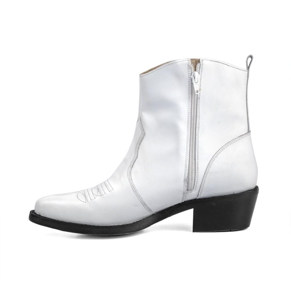 Bota Masculina Country Texana HB Agabe Boots 100.000 - Lt Branca - Sola de Borracha