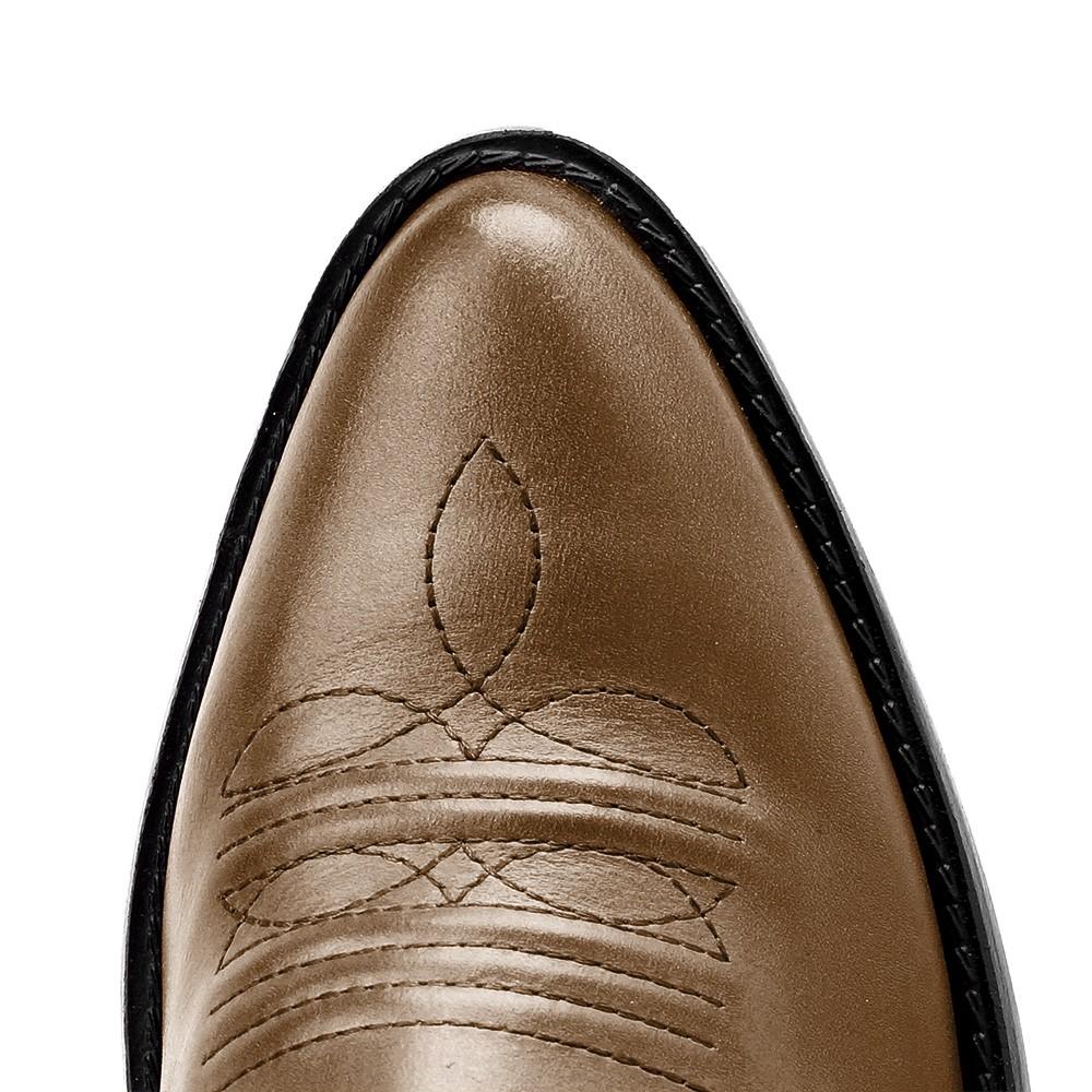 Bota Masculina Country Texana HB Agabe Boots 100.000 - Lt Marrom - Sola de Couro Com Borracha