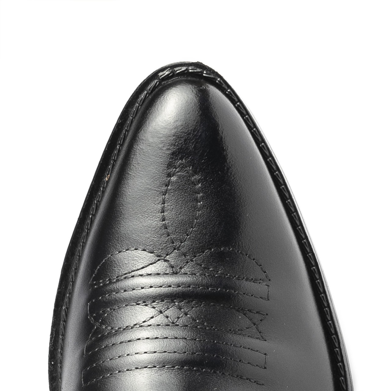 Bota Masculina Country Texana HB Agabe Boots 100.000 - Lt Preto - Sola de Couro Com Borracha