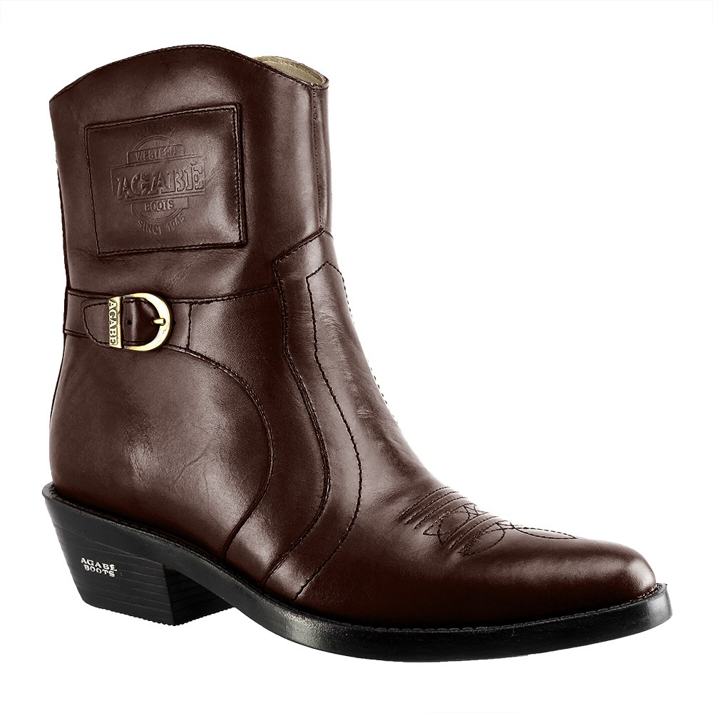 Bota Masculina Country Texana HB Agabe Boots 100.001 - Lt Café - Sola de Borracha