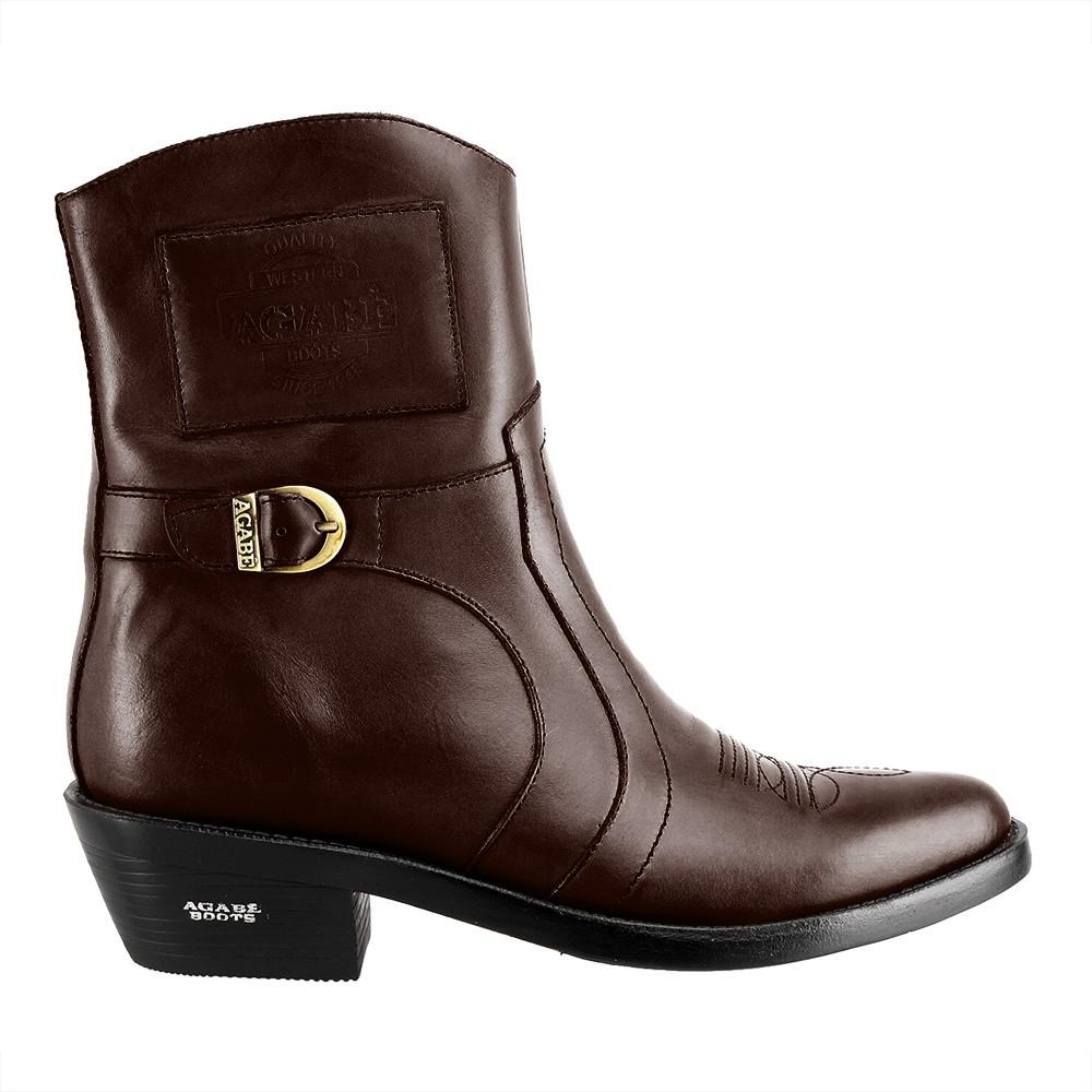 Bota Masculina Country Texana HB Agabe Boots 100.001 - Lt Café - Sola de Couro Com Borracha