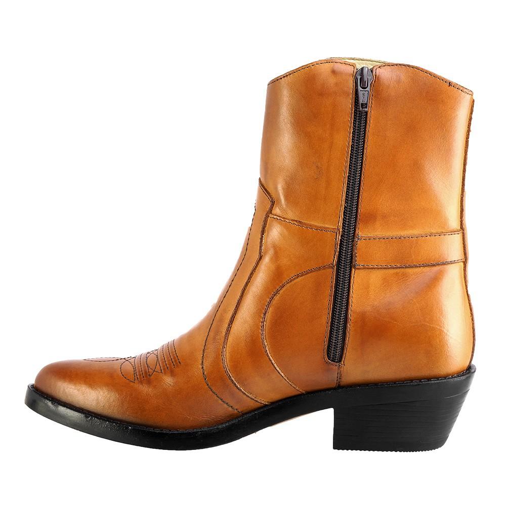 Bota Masculina Country Texana HB Agabe Boots 100.001 - Lt Havana - Sola de Couro Com Borracha