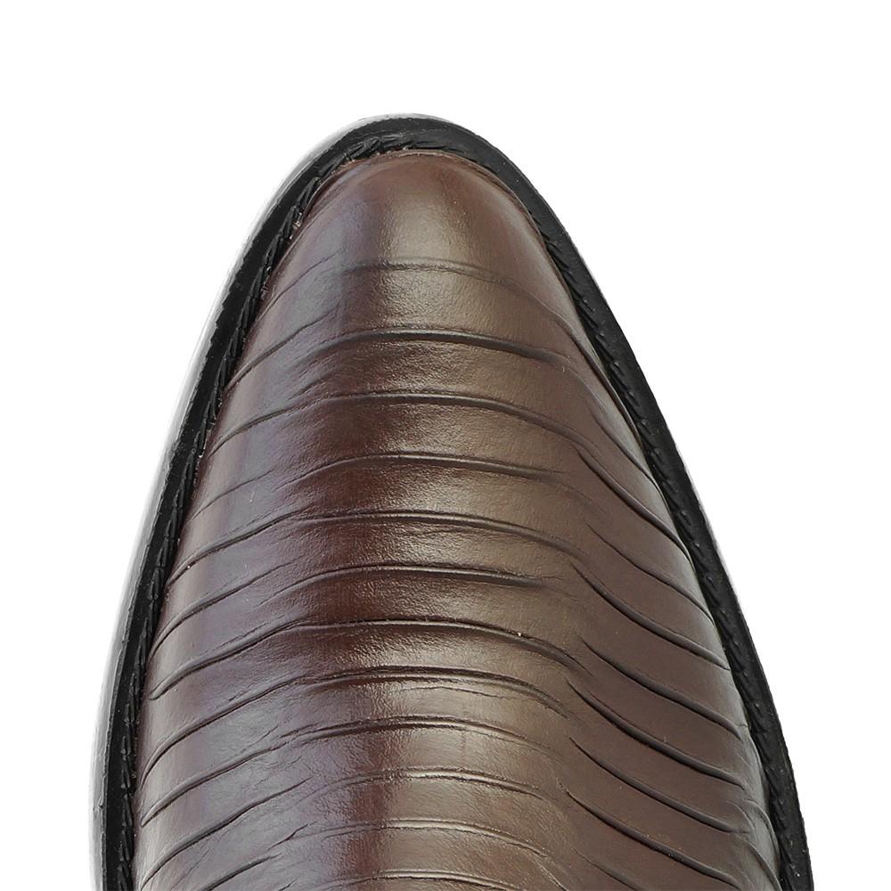 Bota Masculina Country Texana HB Agabe Boots 100.002P - Lt Café + Marrom - Sola de Borracha