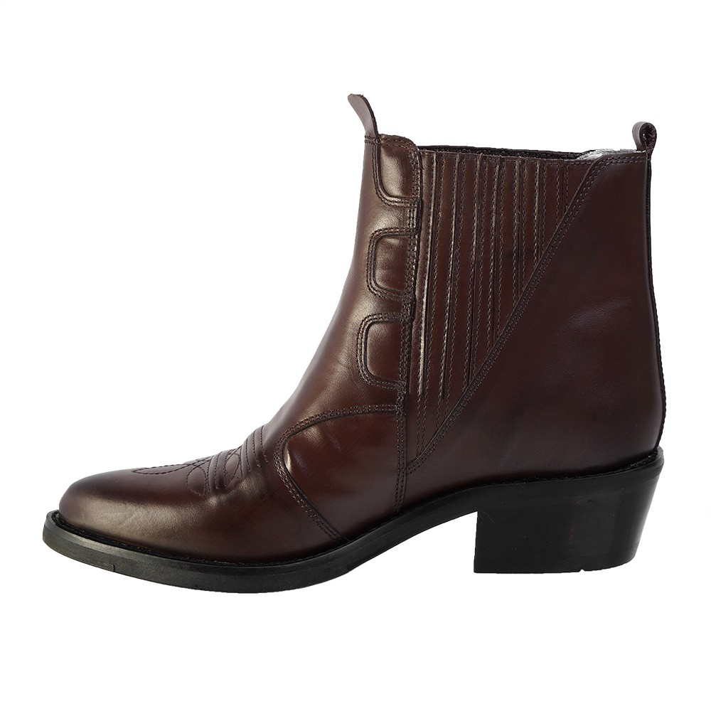 Bota Masculina Country Texana HB Agabe Boots 100.003 - Lt Café - Sola de Borracha