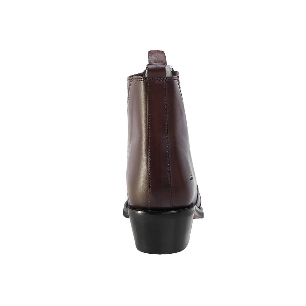 Bota Masculina Country Texana HB Agabe Boots 100.003 - Lt Café - Sola de Couro Com Borracha