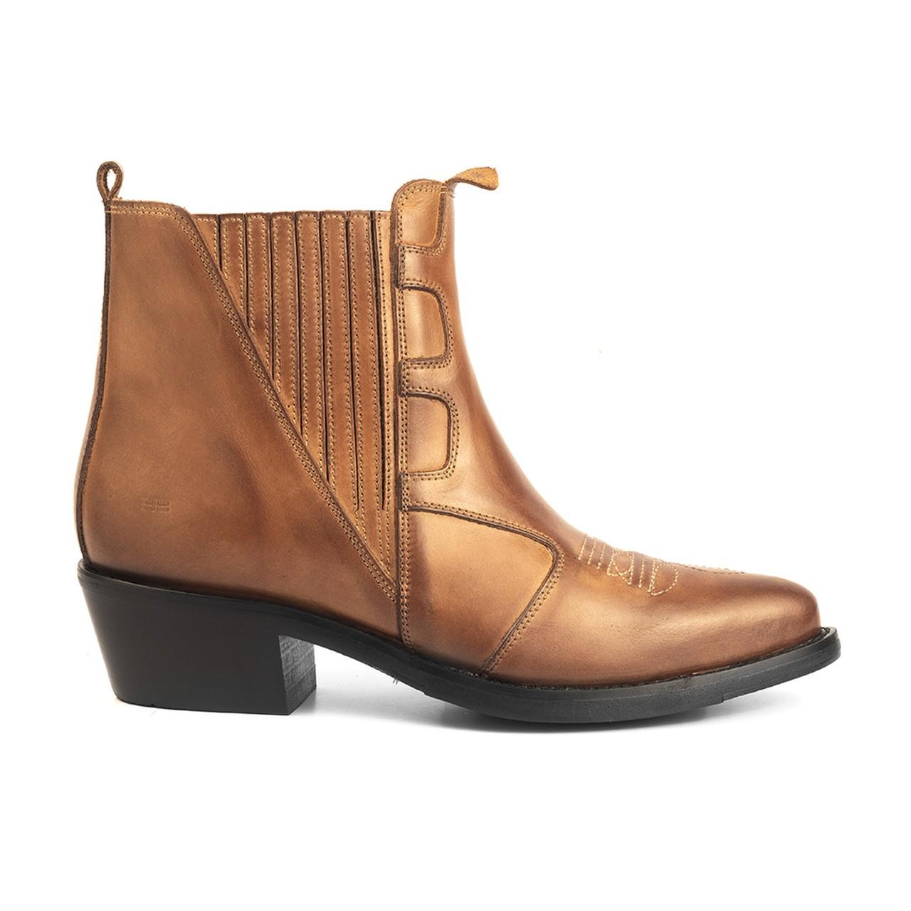 Bota Masculina Country Texana HB Agabe Boots 100.003 - Lt Havana - Sola de Borracha