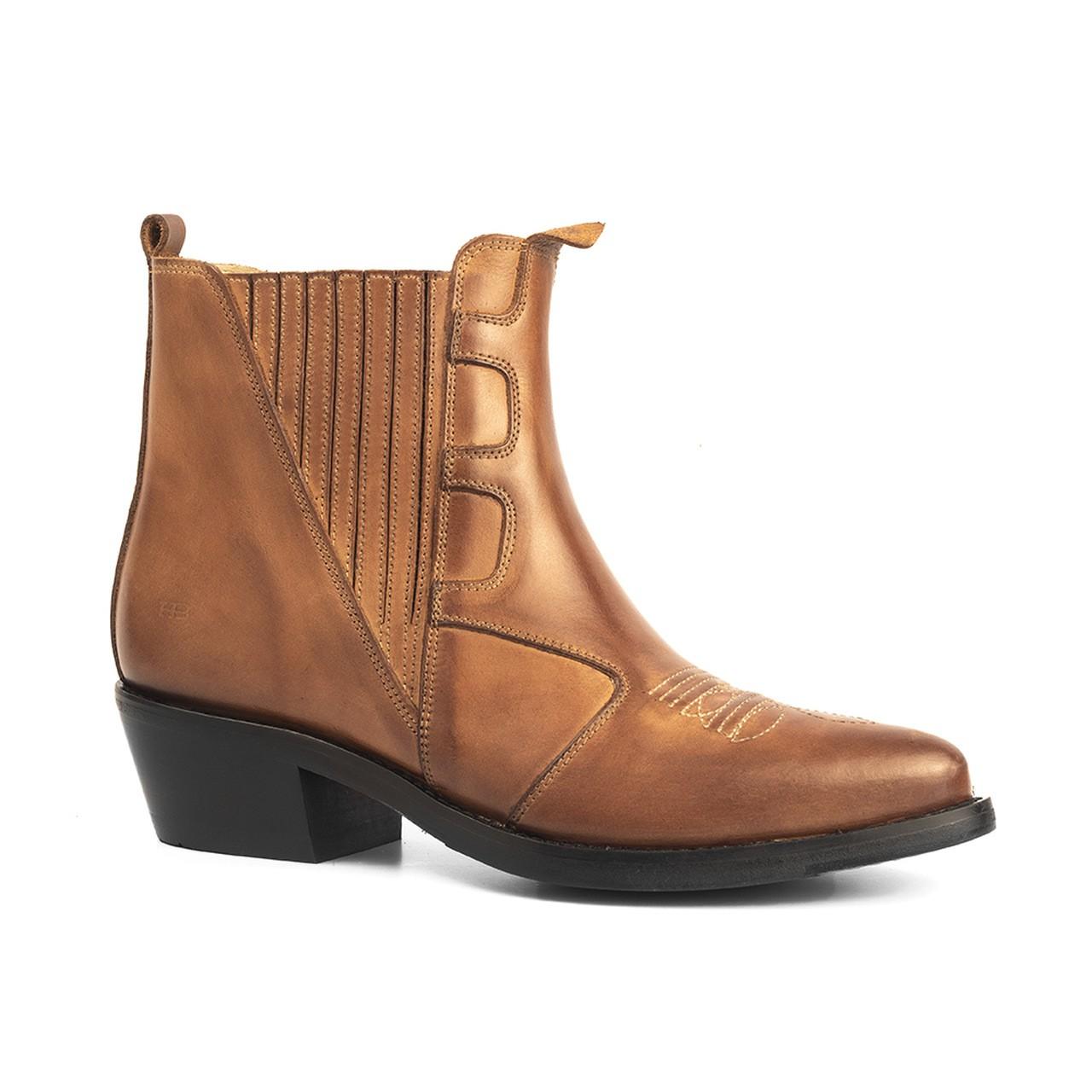 Bota Masculina Country Texana HB Agabe Boots 100.003 - Lt Havana - Sola de Couro Com Borracha