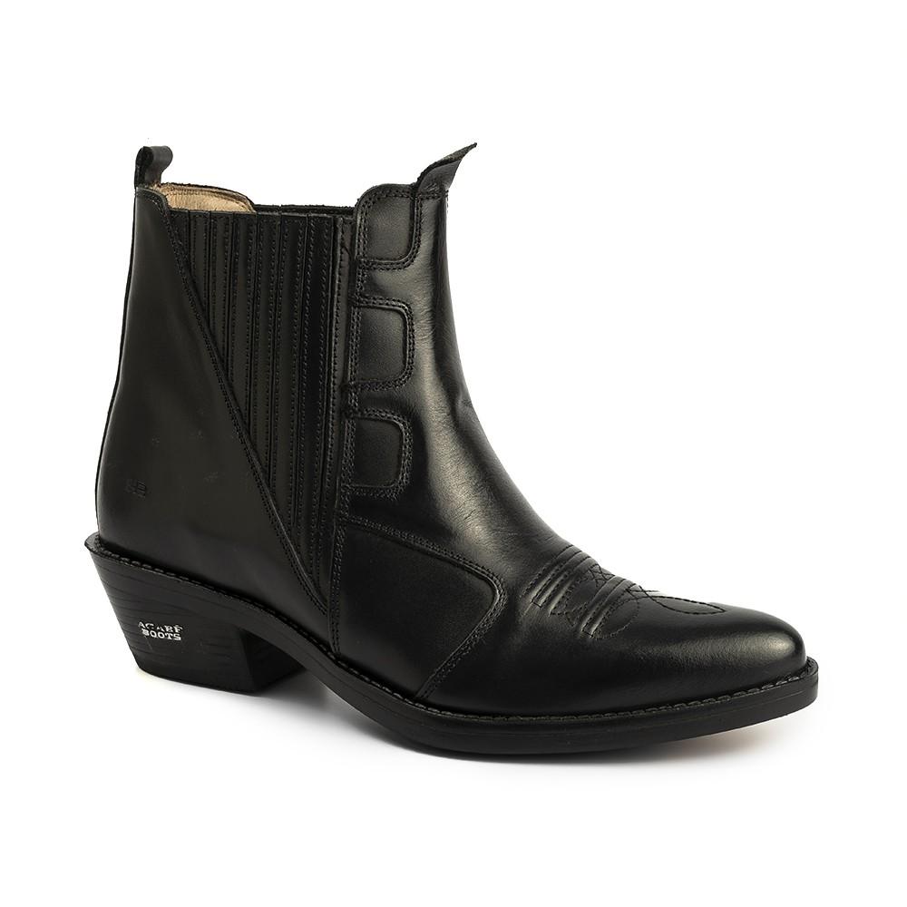 Bota Masculina Country Texana HB Agabe Boots 100.003 - Lt Preto - Sola de Borracha