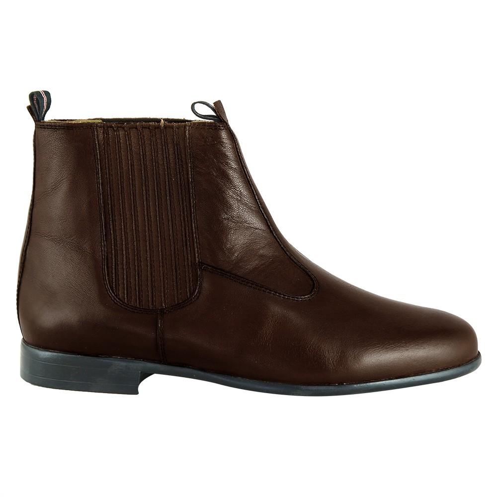 Bota Social Hb Agabe Boots - 400.000 - Pl Café - Solado de Couro