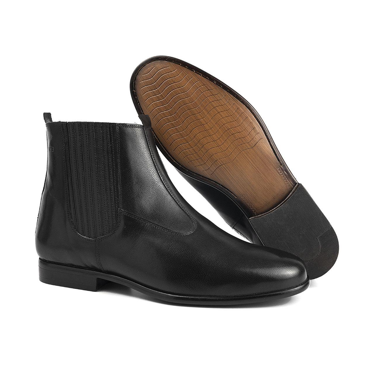 Bota Social Hb Agabe Boots - 400.000 - Pl Preto - Solado de Borracha