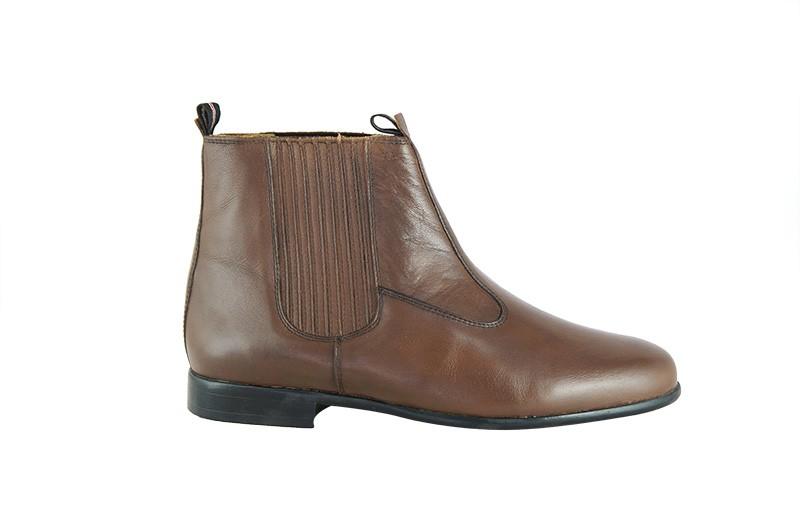 Bota Social Hb Agabe Boots - 400.000 - Pl Tabaco - Solado de Couro