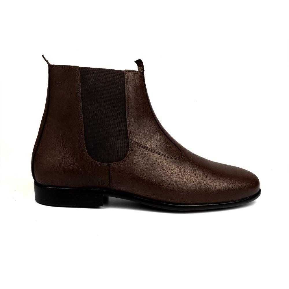 Bota Social Hb Agabe Boots - 400.001 - Pl Café - Solado de Borracha