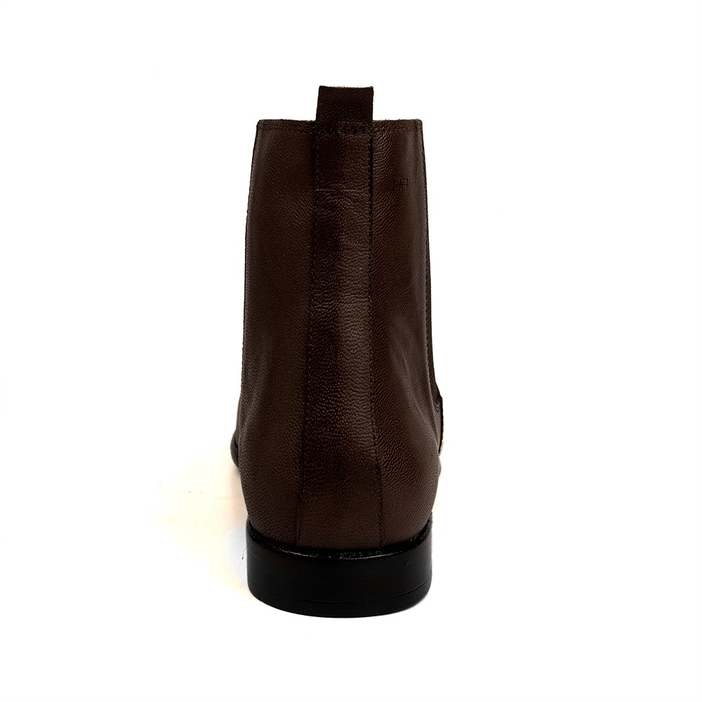 Bota Social Hb Agabe Boots - 400.001 - Pl Café - Solado de Couro