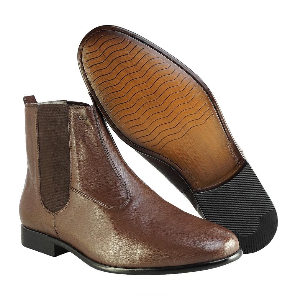 Bota Social Hb Agabe Boots - 400.001 - Pl Tabaco - Solado de Couro