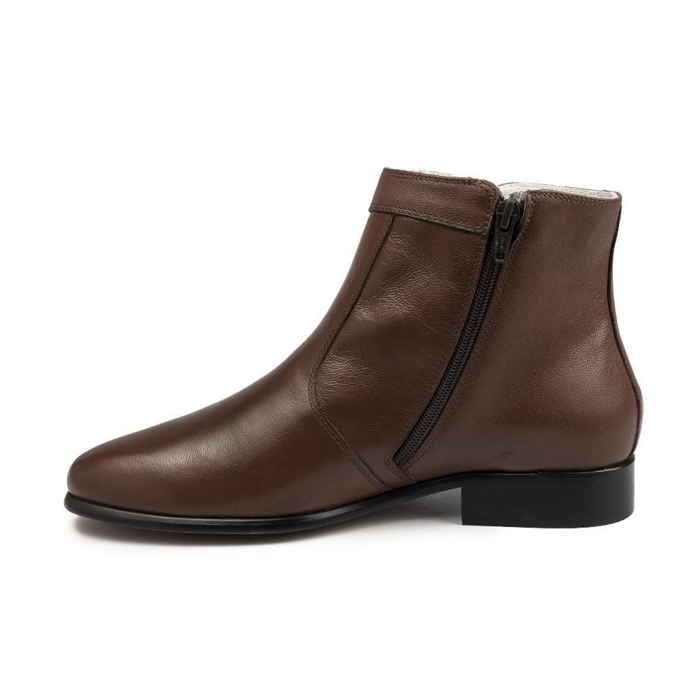 Bota Social Hb Agabe Boots - 400.002 - Pl Café - Solado de Borracha
