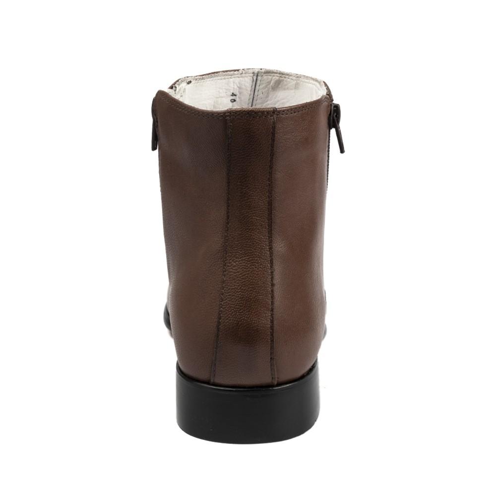 Bota Social Hb Agabe Boots - 400.002 - Pl Café - Solado de Couro